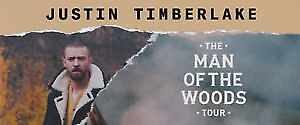 UP TO 5 TICKETS FOR JUSTIN TIMBERLAKE - SECTION 205 ROW B