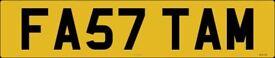 cherished number FA57TAM SP07TAM