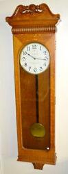 Antique American Clock Company Oak Jeweler's Regulator Bow Tie Wall... Lot 186