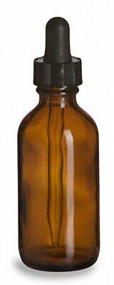 Glass Dropper Bottles Amber 2 Oz Lot Of 6