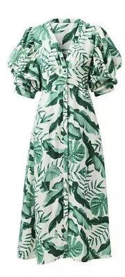 Johanna Ortiz X HM Summer Linen Blended Dress UK8 US4 EU36 DesignerCollaboration