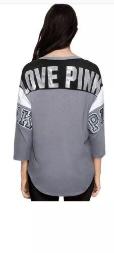 NWT Victoria Secret PINK Medium Bling Boyfriend Shirt