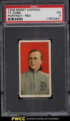 1909-11 T206 Ty Cobb RED PORTRAIT PSA 3 VG