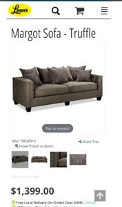 Leon's Couch Sofa Set Margot Collection