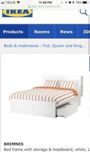 IKEA storage bed frame + slate  + head storage
