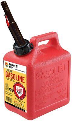 Quick-flow Spout Midwest Can 1210 Auto Shut Off Gasoline Can - 1 Gallon