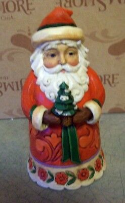 "JIM SHORE 'CHRISTMAS CHEER GIVEN HERE"" SANTA FIGURINE 5"""
