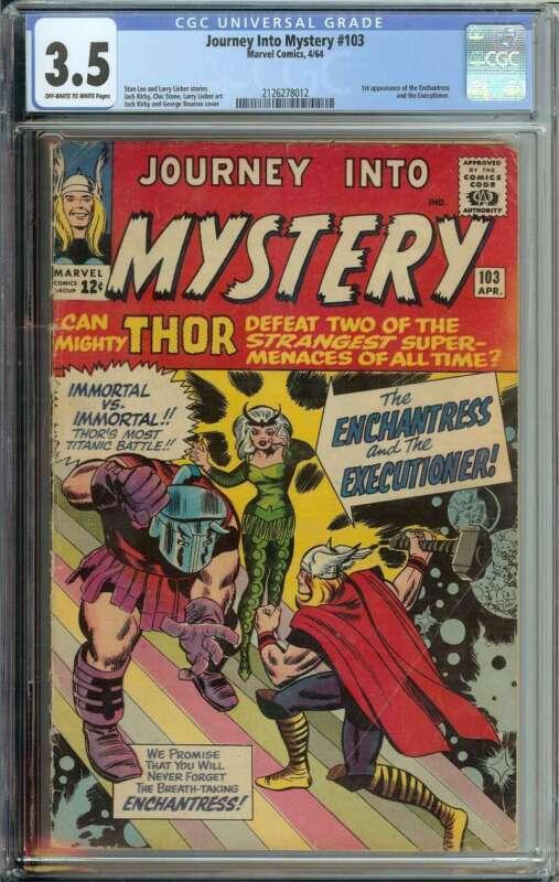 Journey into Mystery #103 CGC 3.5 1st App Enchantress