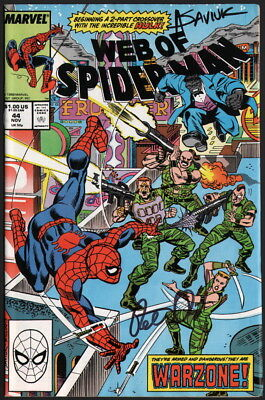 Web of Spider-Man #44 SIGNED Peter David & Alex Saviuk Comic Art / Marvel HULK