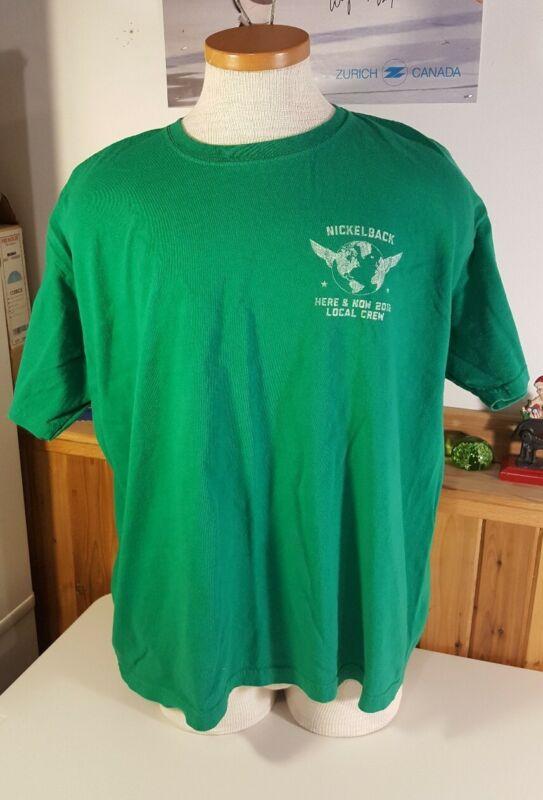 Nickleback Shirt Local Crew Here & Now 2012 Green Mens 2X