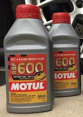 2 Bottle Motul RBF 600 Factory Line DOT 4 RACING BRAKE FLUID 100% Full Synthetic