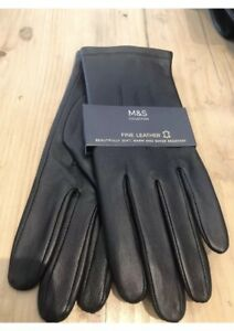 Marks & Spencer Ladies Fine LEATHER GLOVES Medium M&S Ideal Xmas Gift Quality
