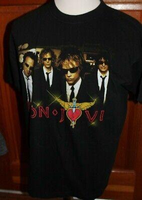 Bon Jovi keep The Faith Long Sleeve Shirt Licensed 93 Tour Rock Music Charcoal