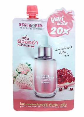 - Best Korea White Strawberry Pomegranate Gluta Serum Natural Ingredients 10 ml