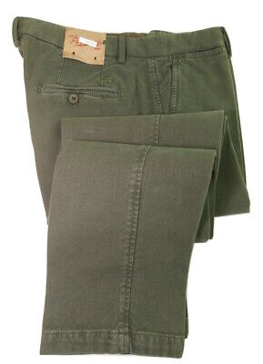 £450 MARCO PESCAROLO NAPOLI NWTS GREEN 34 IT 50 MADE IN ITALY PANTS TROUSERS*