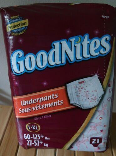Vintage 2007 Girls Goodnites Diapers Ballerina Huggies L / XL  New Bag 21Ct