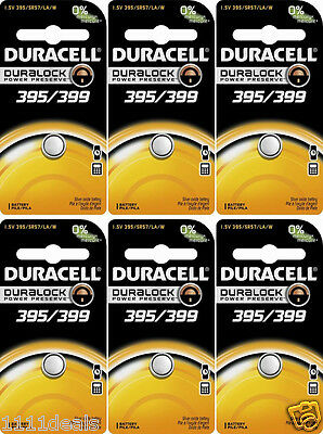 6 Pcs Duracell 395 399 Watch Electronic Silver Oxide - Duracell Electronic
