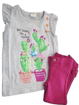 Gymboree Toddler Girls Best Friends Stick Together Cactus 2 Piece Outfit Set (Best Friends Stick Together)