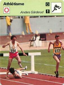 FICHE CARD:Anders Gärderud SUEDE Steeple 3000 m Steeplechase Athlétisme 1970s B - France - Jeux Olympique Olympic GamesPORT EUROPE GRATUIT A PARTIR DE 4 OBJETSBUY 4 ITEMS AND EUROPE SHIPPING IS FREE FICHE FRANCE ANNEES 70s Athletics Frank Baumgartl ( terre) Bronislaw Malinowski (724/Poland) ETAT VOIR PHOTO FORMAT 16 CM X 12 CM SIZE : 6 - France