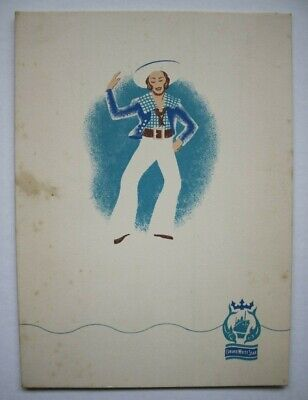 RMS Queen Mary, 1930's, Luncheon Menu April 10th 1938,