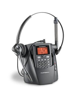 Plantronics Cordless Headset Phone Black DECT 6.0 Wireless Noise Canceling Mic