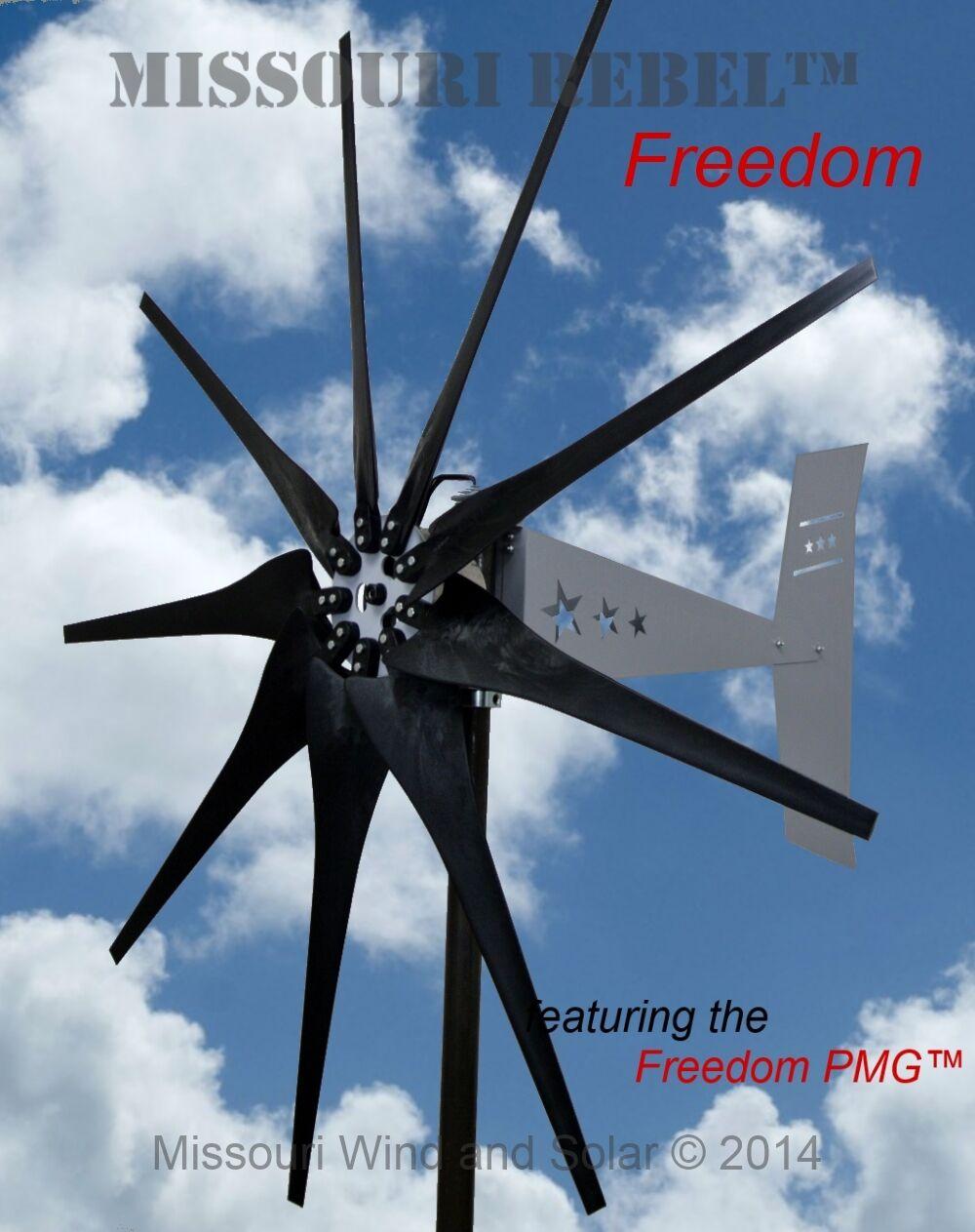 missouri rebel freiheit 12 volt 1700 watt max 9 klinge wind turbine generator ebay. Black Bedroom Furniture Sets. Home Design Ideas