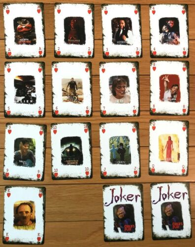 HORROR MOVIE PLAYING CARDS - Full Deck, plus Jokers - 2007 Fox DVD Release Promo