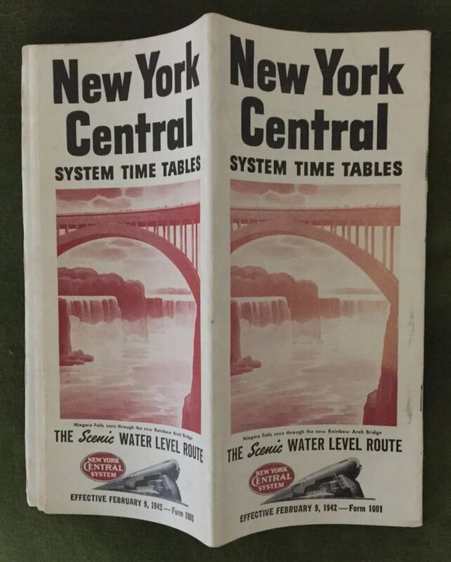 New York Central System 2/9/42 War-Time Public Timetable:Niagara Falls