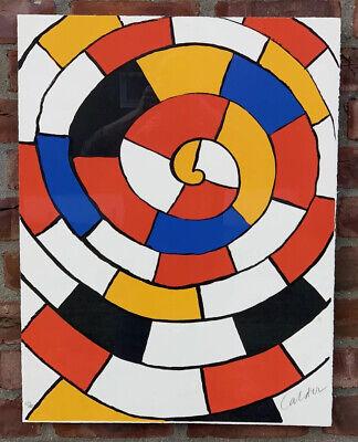 Alexander Calder  La Grenouille et Cie Ohio 1971 signed large 25x32 LITHOGRAPH