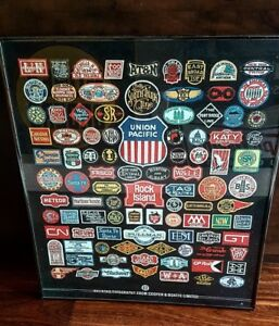 VINTAGE RAILROAD COMPANY LITHOGRAPHED ADVERTISING BADGES $100