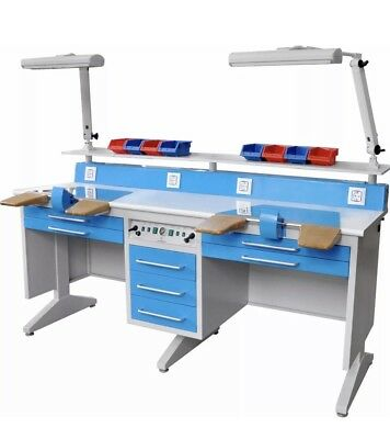 2 Person Dental Laboratory Bench Workstation Wdust Collector Em-lt6