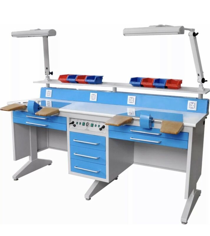 2 Person Dental Laboratory Bench, Workstation W/Dust Collector EM-LT6
