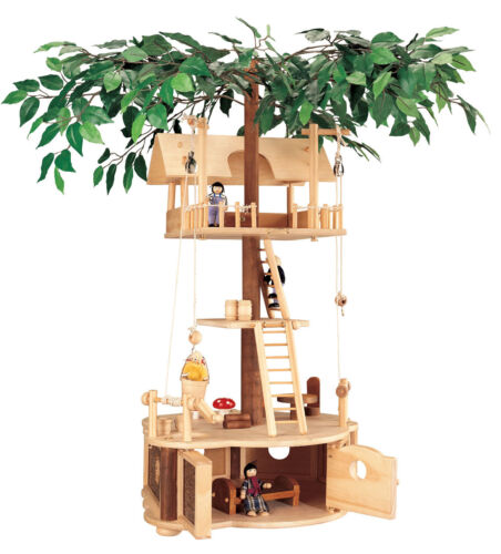 Maxim Deluxe Wooden Tumble Tree House Treehouse Set PARTS ONLY - INCOMPLETE