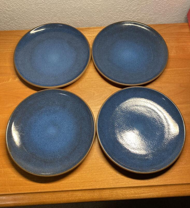 "Set of 4x Heath Ceramics 8.25"" Coupe Salad Plates Blue Moonstone"