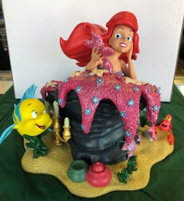 Disney Parks Ariel And Friends Resin Figure New W/Box