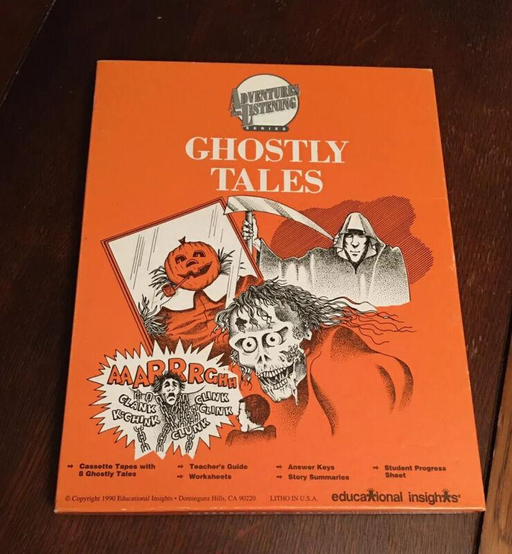 GHOSTLY TALES Vtg Halloween Album Cassette Box Set Teacher Homeschool Not LP