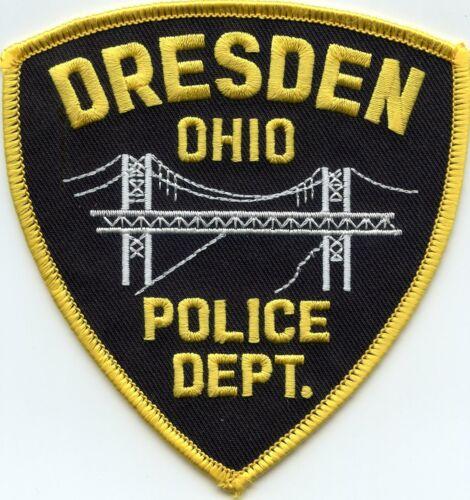 DRESDEN OHIO OH Bridge POLICE PATCH