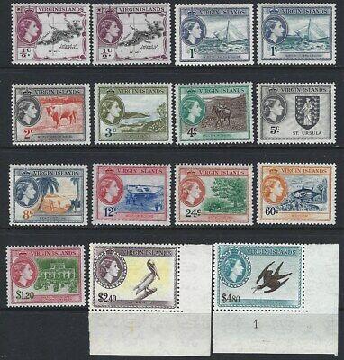 BRITISH VIRGIN ISLANDS 1956/62 QEII Pictorial Set of 15 to $4.80 MNH
