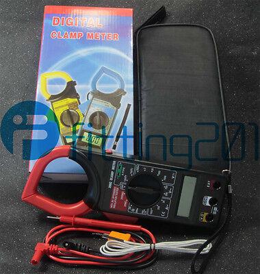 Handheld Digital Ac Voltage Amp Resistance Clamp On Meter Multimeter Dt266c New