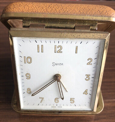 Vintage Swiza Travel Alarm Clock Working Condition
