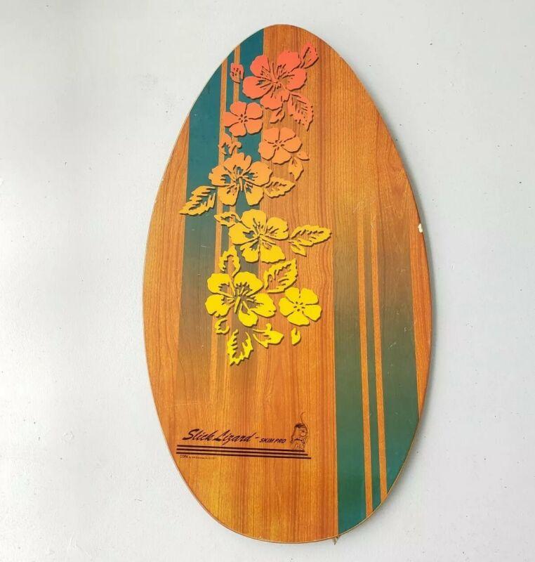 """Vintage Skim Lizard Pro Deluxe Slick-Lizard Board Hibiscus 2001 37"""" X 20"""" Copa"""