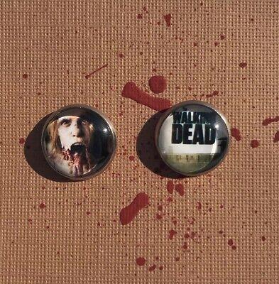The Walking Dead Earrings (Stainless Steel) Zombie Earrings Halloween Earrings