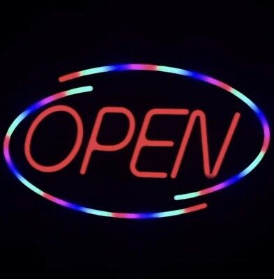 Led Open Sign For Business Bright Neon Light Large 18x10.5 Inch
