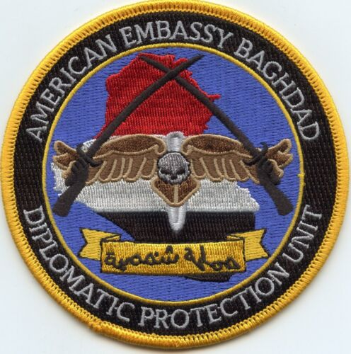 AMERICAN EMBASSY BAGHDAD DIPLOMATIC PROTECTION UNIT colorful POLICE PATCH