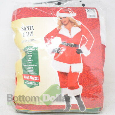 Adult Baby Costume Accessories (Amscan X505 Women's Santa Baby Christmas Costume W/Accessories Adult Plus)