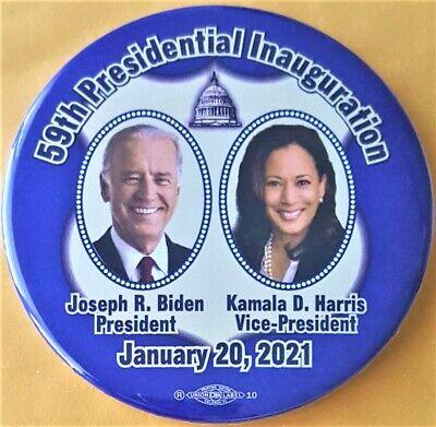 2021 Joe Biden President Kamala Harris Vice Pres. Inauguration Campaign Button