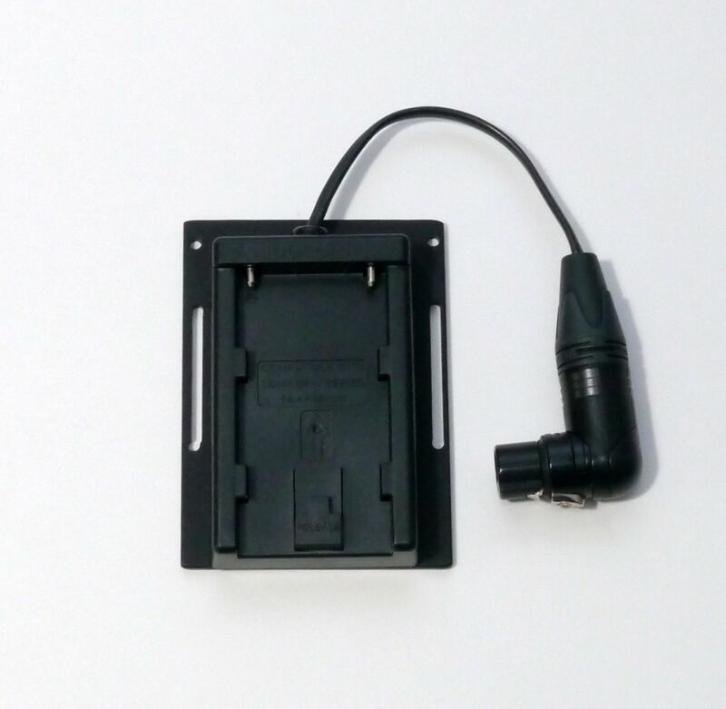 BP-U30/BP-U60/BP-U90 battery adapter with XLR4 cable and mounting plate