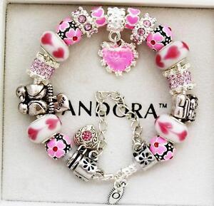 Pink Pandora Charm Bracelets