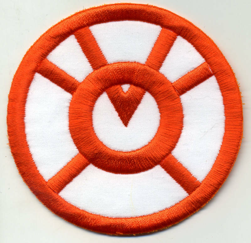"""3.5"""" Orange Lantern Corps Classic Style Embroidered Iron-On Patch"""