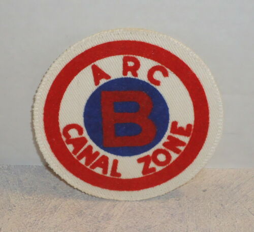 ARC Panama Canal Zone Water Safety /  Swimmer Patch B  American Red Cross  Vtg